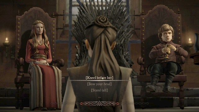 After arriving t the throne room talk with Cersei and Tyrion - Chapter 4 | Episode 1: Iron from Ice - Episode 1: Iron from Ice - Game of Thrones: A Telltale Games Series Game Guide