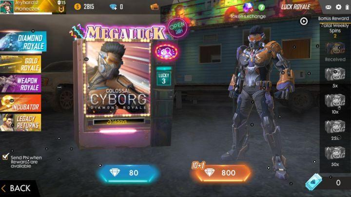 Luck Royale Garena Free Fire Garena Free Fire Guide Gamepressure Com