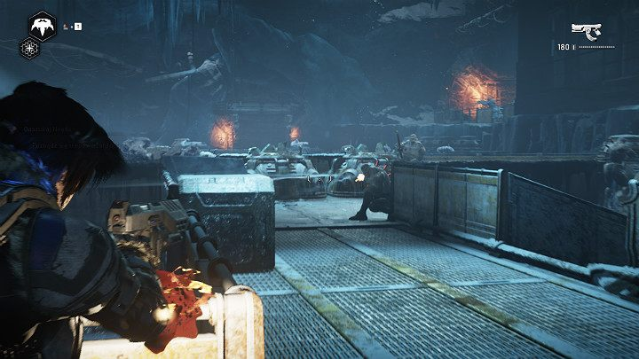 In the next room, you have to fight with several opponents released from the pods - Act 2 Chapter 5 - Dirtier Little Secrets | Gears 5 Walkthrough - Act II - Gears 5 Guide
