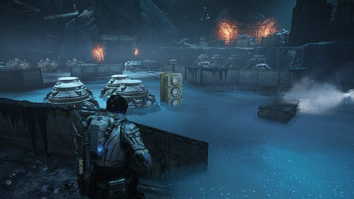 Destroy the generator to neutralize the turrets with cryogenic liquid - Act 2 Chapter 5 - Dirtier Little Secrets | Gears 5 Walkthrough - Act II - Gears 5 Guide