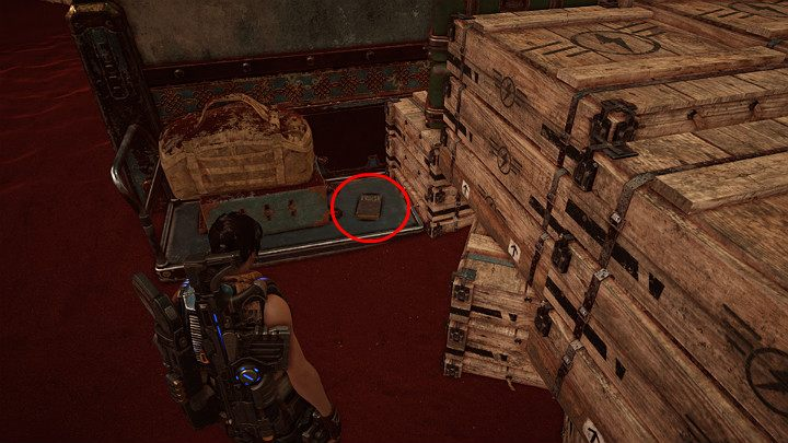 Doomed Empire, by Logan Hobbs, one of the collectibles, is on the small cart, right next to the luggage belt - Act 3 Chapter 1 - Fighting Chance | Gears 5 Walkthrough - Act III - Gears 5 Guide