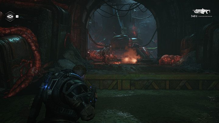 Access to destroyed missile silo is defended by multiple opponents that shouldnt give you any trouble - Act 1 Chapter 1 - Shot in the Dark | Gears 5 Walkthrough - Act I - Gears 5 Guide