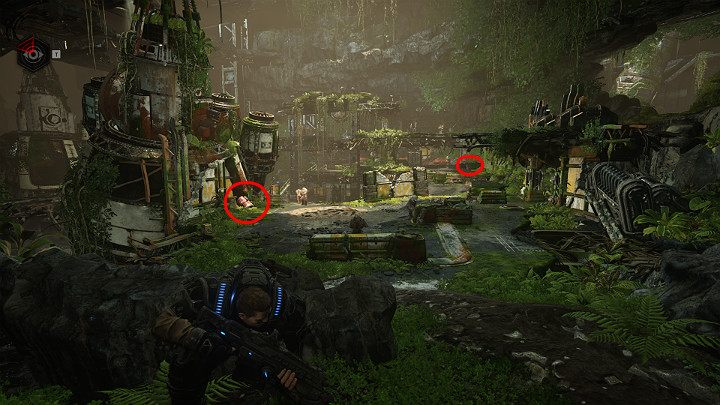 From this position, you will have a great view of the entire arena - Act 1 Chapter 1 - Shot in the Dark | Gears 5 Walkthrough - Act I - Gears 5 Guide