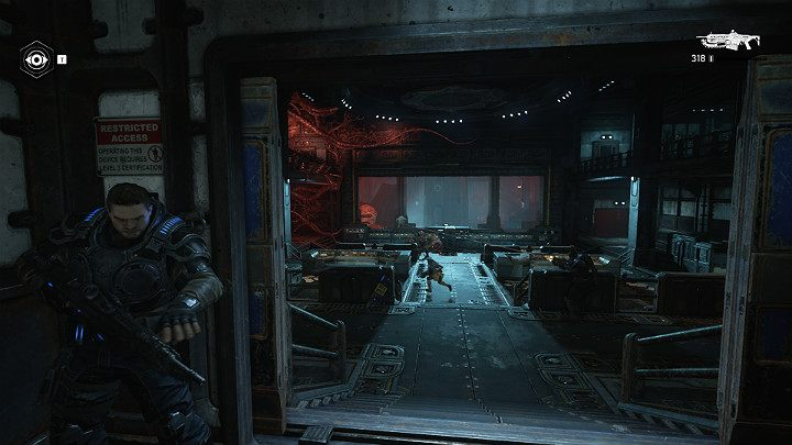 The main control center of the research station is full of enemies - Act 1 Chapter 1 - Shot in the Dark | Gears 5 Walkthrough - Act I - Gears 5 Guide