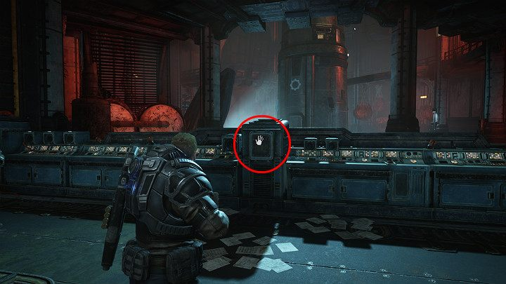Go to the console and reveal the interface port, so that Dave can connect to it and launch a rocket - Act 1 Chapter 1 - Shot in the Dark | Gears 5 Walkthrough - Act I - Gears 5 Guide