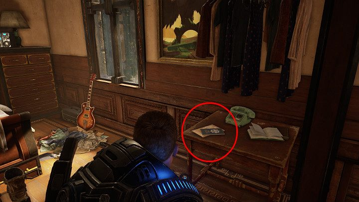 Another collectible item is in the small bedroom (room on the left) - A welcome package from the COG Settlement 2 - Act 1 Chapter 3 - This is War | Gears 5 Walkthrough - Act I - Gears 5 Guide