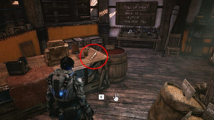 Go down the stairs and turn towards the warehouse on the right - Act 2 Chapter 1 - Recruitment | Gears 5 Walkthrough - Act II - Gears 5 Guide