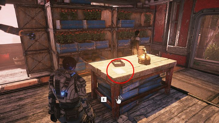 The room with saplings has another collectible - A memo for the chief - Act 2 Chapter 1 - Recruitment | Gears 5 Walkthrough - Act II - Gears 5 Guide