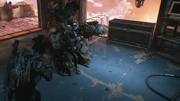 Interestingly, the workshop is full of mechs that you can use - Act 2 Chapter 1 - Recruitment | Gears 5 Walkthrough - Act II - Gears 5 Guide