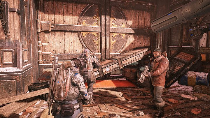 Open the gate to complete this part of the mission - Act 2 Chapter 1 - Recruitment | Gears 5 Walkthrough - Act II - Gears 5 Guide
