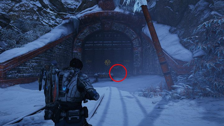 After reaching the gateway leading to the New Hope research facility, go inside through a small hole in the large gate - Act 2 Chapter 3 - Forest for the trees | Gears 5 Walkthrough - Act II - Gears 5 Guide