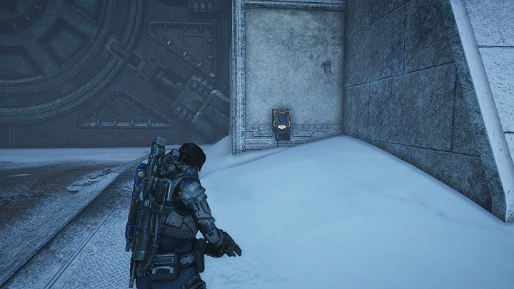 Remember the large gate you couldnt access earlier - Old COG wall - Act 2 Chapter 4 - The Source of It All | Gears 5 Walkthrough - Act II - Gears 5 Guide