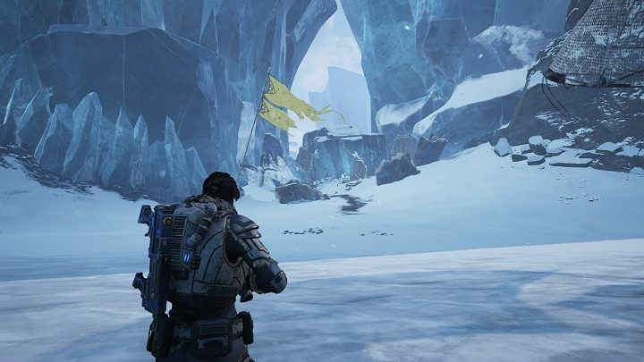 The second crash site is near the first one - Act 2 Chapter 4 - The Source of It All | Gears 5 Walkthrough - Act II - Gears 5 Guide
