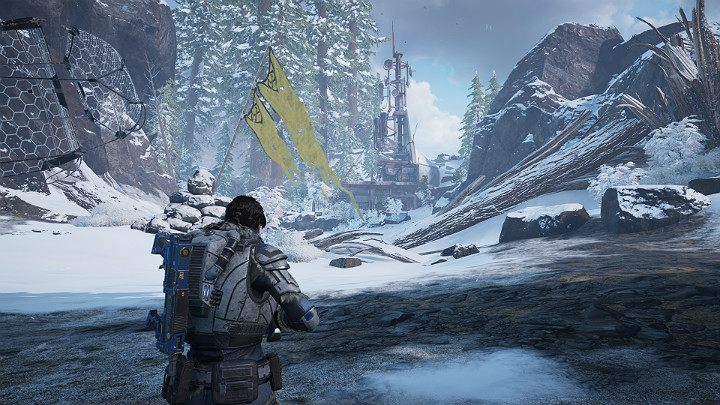 The North comm tower is in front of you - Act 2 Chapter 4 - The Source of It All | Gears 5 Walkthrough - Act II - Gears 5 Guide