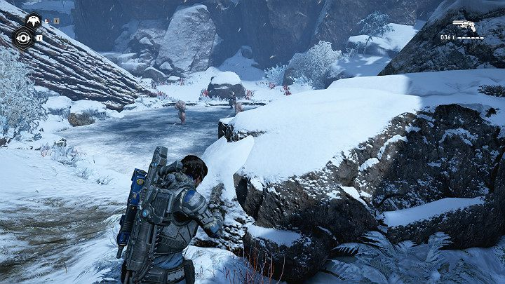 During climbing, you will encounter a few enemies - Act 2 Chapter 4 - The Source of It All | Gears 5 Walkthrough - Act II - Gears 5 Guide