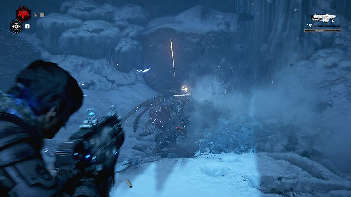 The further path leads through an ice cave - Act 2 Chapter 4 - The Source of It All | Gears 5 Walkthrough - Act II - Gears 5 Guide
