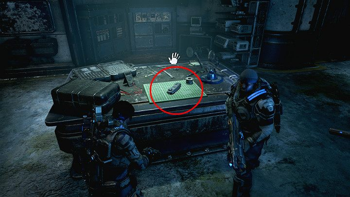 Collect a module for Jack lying on the desk - Disguise - Act 2 Chapter 4 - The Source of It All | Gears 5 Walkthrough - Act II - Gears 5 Guide