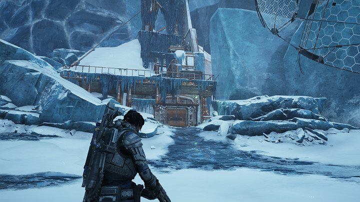 The substation of the East comm tower is ahead - Act 2 Chapter 4 - The Source of It All | Gears 5 Walkthrough - Act II - Gears 5 Guide