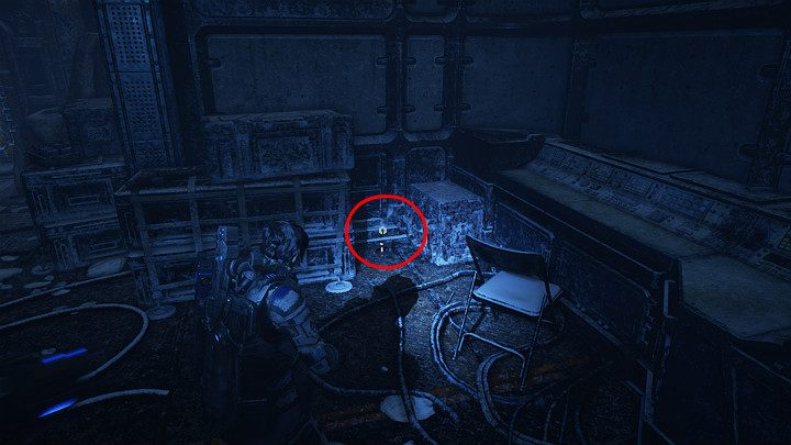 There is one component in the corner of the building - Act 2 Chapter 4 - The Source of It All | Gears 5 Walkthrough - Act II - Gears 5 Guide