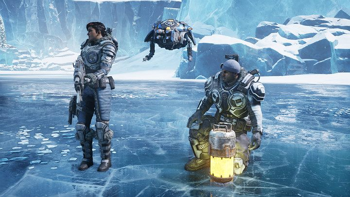 Go to the place indicated on the map, and create a passage down - Act 2 Chapter 4 - The Source of It All | Gears 5 Walkthrough - Act II - Gears 5 Guide
