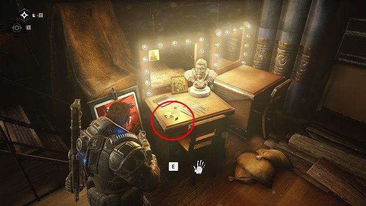 Another collectible is behind the stage in the studio - An old lighter - Act 1 Chapter 4 - The Tides Turn | Gears 5 Walkthrough - Act I - Gears 5 Guide