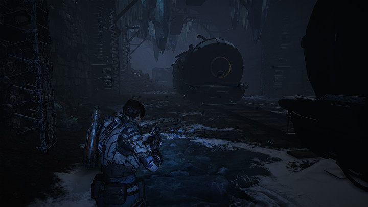 When you reach the wreckage of railway cars, follow the path on the left, through the rocks - you will reach a dark tunnel - Act 2 Chapter 2 - Into the Wild | Gears 5 Walkthrough - Act II - Gears 5 Guide