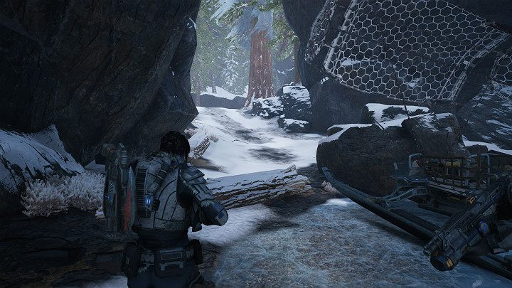 Go to the place presented in the picture above - near the abandoned train station, on the way to the New Hope research facility - Act 2 Chapter 2 - Into the Wild | Gears 5 Walkthrough - Act II - Gears 5 Guide