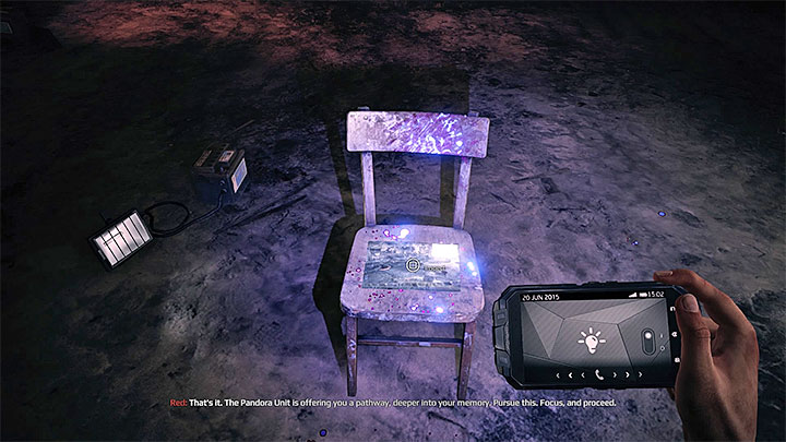 Interacting with the picture on the chair takes you to a new memory - Learn about the victims identity | Black | Walkthrough - Black - Get Even Game Guide