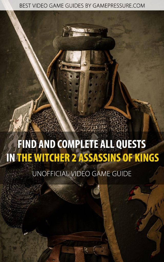 Find and Complete All Quests in The Witcher 2 Assassins of Kings - Unofficial Video Game Guide