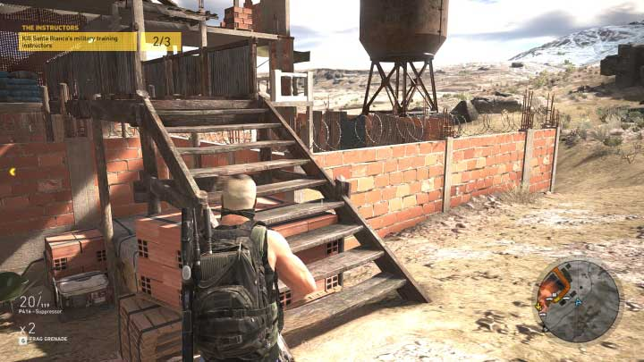 When you eliminate two of them, they are in the bigger part of the base, go back to where the base begins and take care of the last instructor - The Instructors | Montuyoc Walkthrough - Montuyoc - Tom Clancys Ghost Recon: Wildlands Game Guide