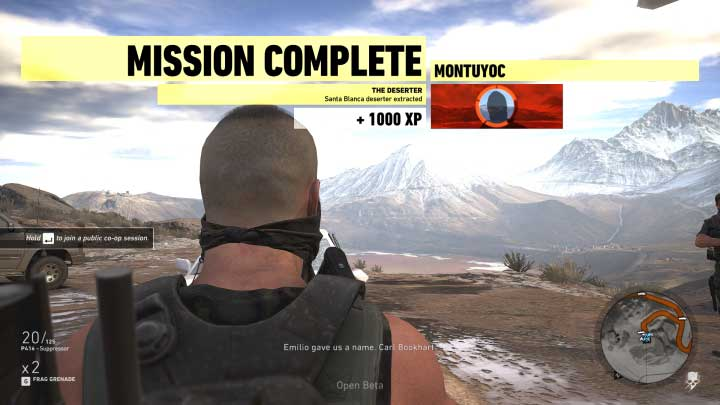 Get to the appointed place and, during that, avoid the enemy patrols - The Deserter | Montuyoc Walkthrough - Montuyoc - Tom Clancys Ghost Recon: Wildlands Game Guide