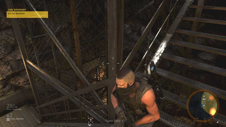 When you get to the stairs go down where the last group of enemies waits - Carl Bookhart | Montuyoc Walkthrough - Montuyoc - Tom Clancys Ghost Recon: Wildlands Game Guide