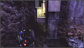 Notice that Ray has joined you and you'll have to follow him into a new crypt - Level 7: Central Park Cemetery - part 1 - Walkthrough - Ghostbusters The Video Game - Game Guide and Walkthrough