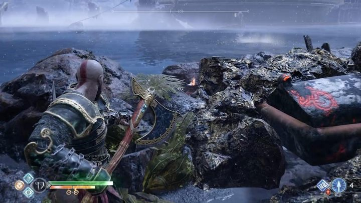 How to destroy rocks blocking the passage in God of War
