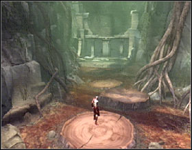 Use your blades to jump to the other side of the swamp - The Ruins of the Forgotten - Walkthrough - God of War 2 - Game Guide and Walkthrough