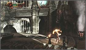 Before you go back to the blocked passage in the cave, notice that on the floor from which you've pulled the box down is another door - Walkthrough - Realm of Hades - Walkthrough - God of War 3 - Game Guide and Walkthrough
