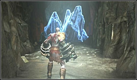 After you land, destroy the crystals in front of you and jump into the hole behind them - Walkthrough - The Pit of Tartarus and Cronos - Walkthrough - God of War 3 - Game Guide and Walkthrough