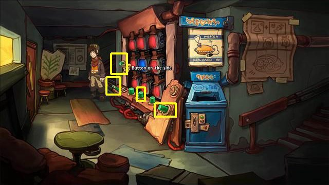 Go down the stairs to the ground floor - Force Bozo to give Rufus the towel | Hotel Menetekel in Goodbye Deponia - Hotel Menetekel - Goodbye Deponia Guide
