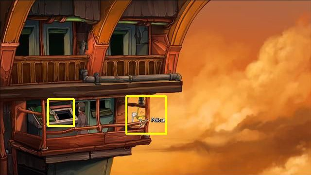 Go to the hotels corridor - Force Bozo to give Rufus the towel | Hotel Menetekel in Goodbye Deponia - Hotel Menetekel - Goodbye Deponia Guide