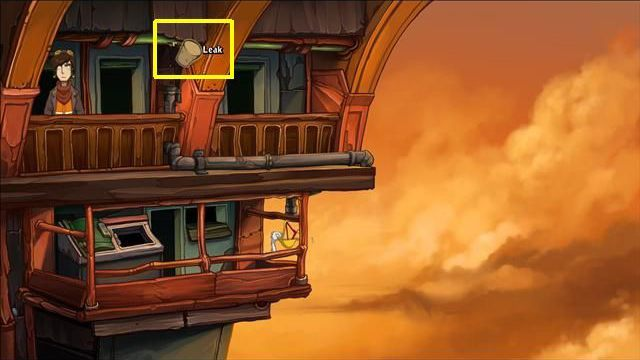 Go back to the ghosts room, and approach the window - Force Bozo to give Rufus the towel | Hotel Menetekel in Goodbye Deponia - Hotel Menetekel - Goodbye Deponia Guide