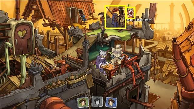 Try to talk to Mr - Get some light source | To rescue Goal and Deponia in Goodbye Deponia - To rescue Goal and Deponia - Goodbye Deponia Guide