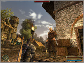 A famous thief Lares, who appeared in Geldern, impresses Jared - Geldern - Myrtana - Gothic 3 - Game Guide and Walkthrough