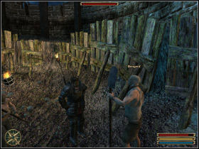 Slaves you are looking for are Bengerd and Osko; you can find them at the bottom of excavation - Montera - Myrtana - Gothic 3 - Game Guide and Walkthrough