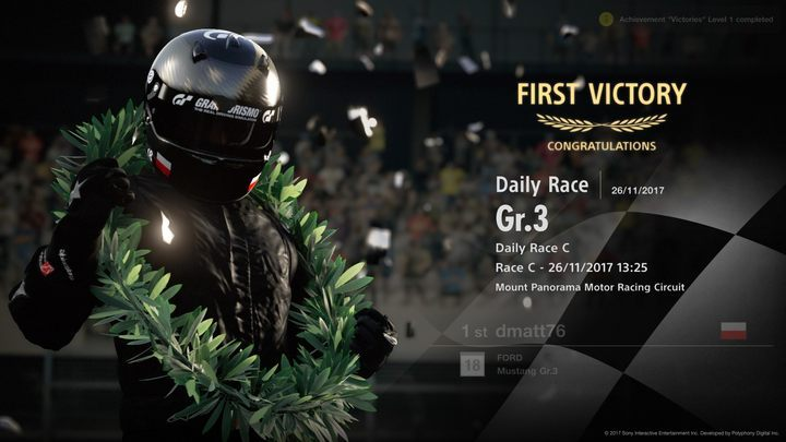 Winning your very first race in Gran Turismo Sport can be quite a challenge, but it also gives tremendous satisfaction. - Gran Turismo Sport Game Guide