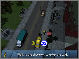 Once you've completed the 'Pursuit Farce' mission you get access to invaluable services offered by cab drivers - The Basics - Cabs - The Basics - Grand Theft Auto: Chinatown Wars - Game Guide and Walkthrough