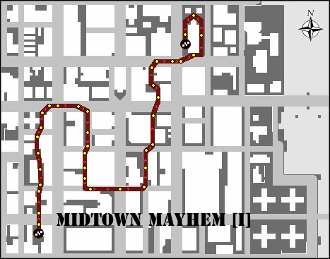 20 - Extra Activities - Races and Special Activities - Algonquin (Center) - Extra Activities - Grand Theft Auto: Chinatown Wars - Game Guide and Walkthrough