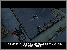 Go to the docks and force your way through the enemy host in a way similar to this in the cemetery mission - Main Missions 41-50 - Missions - Grand Theft Auto: Chinatown Wars - Game Guide and Walkthrough