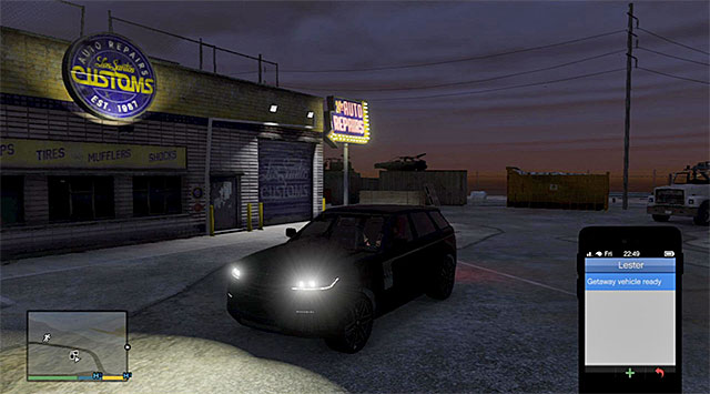 Regardless of whether you have decided to make the upgrades or not, you need to contact Lester - 80: Getaway Vehicle #3 - Main missions - Grand Theft Auto V Game Guide