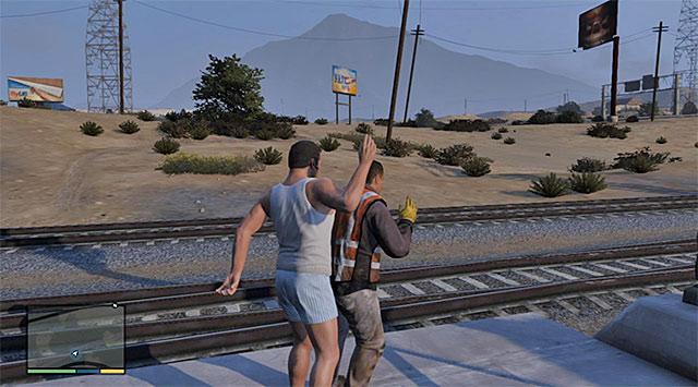 The other one of the railway workers - 82: Sidetracked - Main missions - Grand Theft Auto V Game Guide