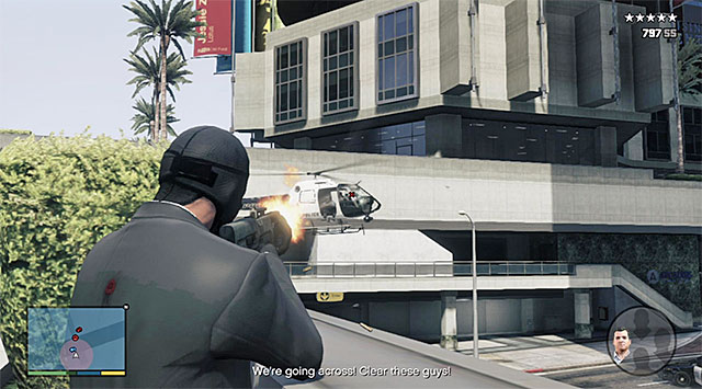 Keep destroying the enemy choppers - 83: The Big Score #2 - the Obvious variant - Main missions - Grand Theft Auto V Game Guide
